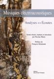Nicolas Marty - Musiques électroacoustiques - Analyses, écoutes.