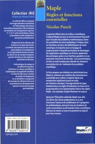 Maple. Règles et fonctions essentielles avec 1 CD audio - Nicolas Puech