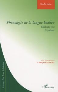 Nicolas Quint - Phonologie de la langue koalibe - Dialecte réré (Soudan).