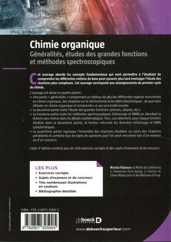 Chimie organique. Généralités, études des grandes fonctions et méthodes spectroscopiques 3e édition