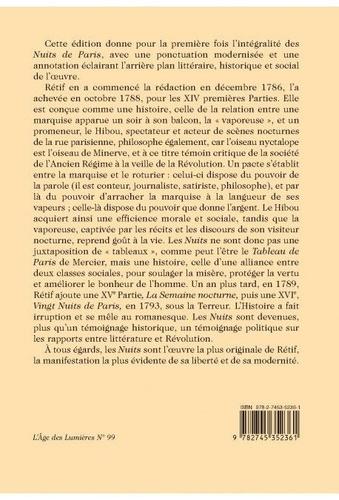 Les nuits de Paris ou le spectateur nocturne. Tome 1, Nuit 1-82 - Pack en 5 volumes
