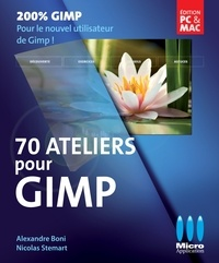 Nicolas Stemart et Alexandre Boni - 70 ateliers pour GIMP.
