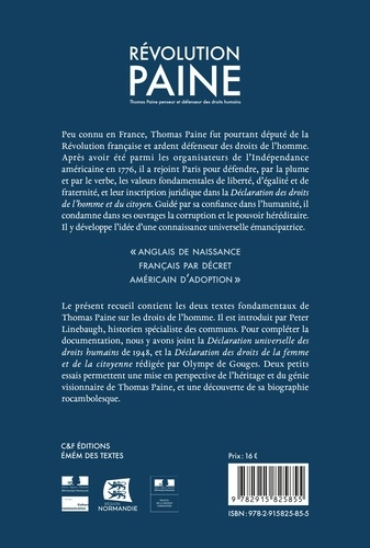 Révolution Paine. Thomas Paine penseur et défenseur des droits humains
