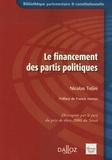 Nicolas Tolini - Le financement des partis politiques.