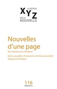 Nicolas Tremblay et Jean-Pierre April - XYZ. La revue de la nouvelle. No. 116, Hiver 2013 - Nouvelles d'une page.