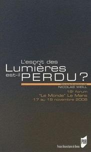 Nicolas Weill - L'esprit des Lumières est-il perdu ? - 18e forum Le Monde Le Mans, 17 au 19 novembre 2006.
