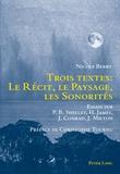 Nicole Berry - Trois textes : le récit, le paysage, les sonorités.