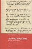 Nicole Bingen et Renaud Adam - Lectures italiennes dans les pays wallons à la première Modernité (1500-1630).