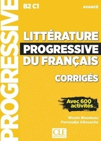 Téléchargement Kindle de livres Corrigés Littérature progressive avancé NC