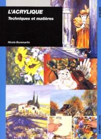 Histoiresdenlire.be L'acrylique. Techniques et matières Image