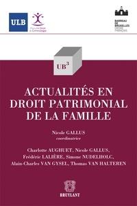 Nicole Gallus - Actualités en droit patrimonial de la famille.