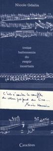 Nicole Gdalia - Treize battements du respir incertain - Edition bilingue français-russe.