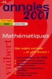 Nicole Lemaire - Mathématiques bac ES/L. - Sujets corrigés, édition 2001.
