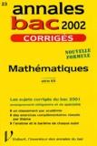 Nicole Lemaire - Mathématiques série ES. - Corrigés 2002.