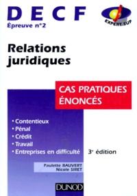 DECF épreuve n° 2 Relations juridiques. Cas pratiques énoncés, 3ème édition.pdf