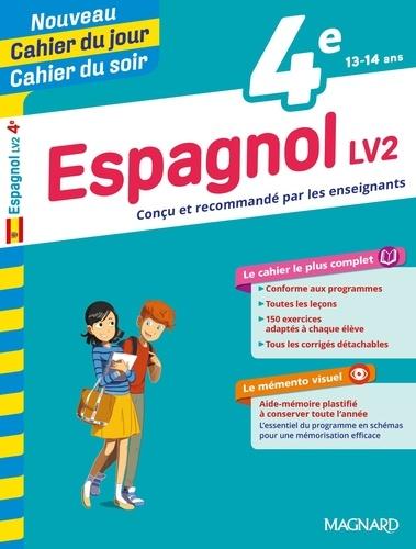 Cahier du jour/Cahier du soir Espagnol LV2 4e + mémento  Edition 2019