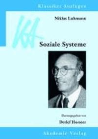 Niklas Luhmann: Soziale Systeme.