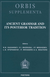 Ancient Grammar and its Posterior Tradition.pdf
