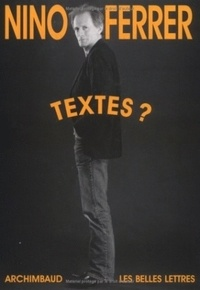 Nino Ferrer - Textes ?.