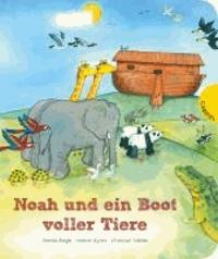 Noah und ein Boot voller Tiere.