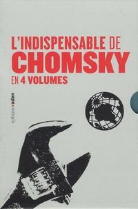 Noam Chomsky et Michel Foucault - Coffret L'indispensable de Chomsky - Sur la nature humaine ; Comprendre le pouvoir tome 1, 2 et 3.