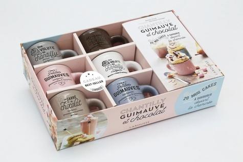 Coffret Chantilly, guimauve et chocolat. Le livre de 20 recettes de mini mug cakes avec 6 mini mugs en céramique