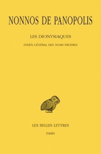 Nonnos de Panopolis - Les Dionysiaques - Tome 19, Index général des noms propres.