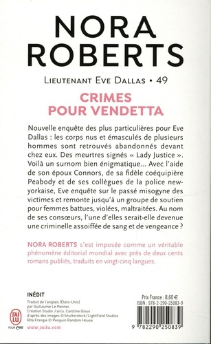 Lieutenant Eve Dallas Tome 49 Crimes pour vendetta