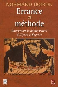Normand Doiron - Errance et méthode - Interpréter le déplacement d'Ulysse à Socrate.