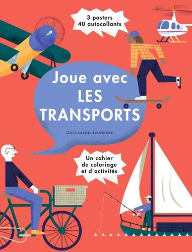 Nous Vous - Joue avec les transports - Un cahier de coloriage et d'activités, avec 3 posters et 40 autocollants.