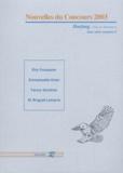 Eric Fouassier et Emmanuelle Urien - Harfang HS N° 8 : Nouvelles du concours 2003.