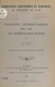 Numa Manson et Gustave Ribaud - Constantes thermodynamiques des gaz aux températures élevées.