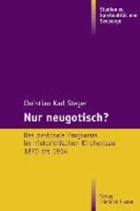 Nur neugotisch? - Das pastorale Programm im historistischen Kirchenbau 1870-1914.