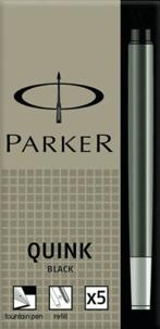 NWL FRANCE - Cartouches Parker Quink Noir - Etui de 5 cartouches longues