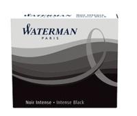 NWL FRANCE - Cartouches Waterman internationales Noir - Etui de 6 cartouches courtes