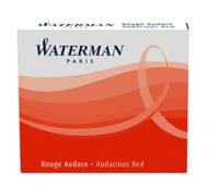 NWL FRANCE - Cartouches Waterman internationales Rouge - Etui de 6 cartouches courtes