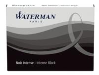 NWL FRANCE - Cartouches Waterman standards Noir - Etui de 8 cartouches longues