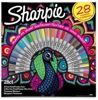 NWL FRANCE - Coffret Paon de  20 Sharpie Fine + 8 Sharpie Ultrafine