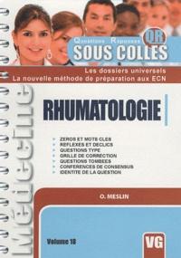 O. Meslin - Rhumatologie.