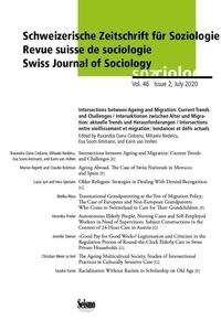 Oana cio Nedelcu m. et Ciobanu r. Oana - Revue suisse de sociologie. intersections entre vieillissement et mig ration: tendances et defis act - Intersections entre vieillissement et migration: tendances et défis actuels.