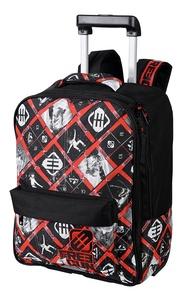 OBERTHUR - Sac à dos à roulettes Freegun Snow noir et rouge