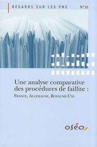 Observatoire des PME - Une analyse comparative des procédures de faillite : France, Allemagne, Royaume-Uni.