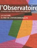 Vincent Guillon et Cécile Martin - L'observatoire N° 54, été 2019 : La culture à l'âge de l'intercommunalité.