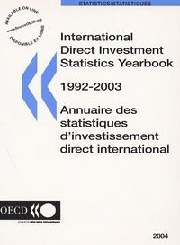 Deedr.fr Annuaire des statistiques d'investissement direct international 1992/2003 Image