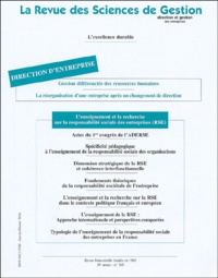 Eric Persais et Delphine-François-Philip Basserolles de Saint-Julien - La Revue des Sciences de Gestion N° 205, Janvier-févr : .