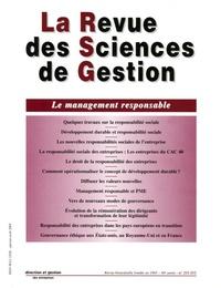 Philippe Naszalyi et Bernard Fleuriot - La Revue des Sciences de Gestion N° 211-212, Janvier- : Le management responsable.