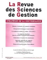 Philippe Naszalyi et Jean-Claude Castagnos - La Revue des Sciences de Gestion N° 213, Mai-juin 200 : Stratégie de la gouvernance.