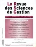 Jean-Jacques Pluchart et Christian Prat dit Hauret - La Revue des Sciences de Gestion N° 216, Novembre-déc : Finances et responsabilité éthique.