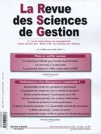 Eric Séverin - La Revue des Sciences de Gestion N° 223, Janvier-févr : .