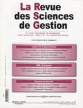 Claude Rochet et Olivier Keramidas - La Revue des Sciences de Gestion N° 228, Novembre-Déc : .